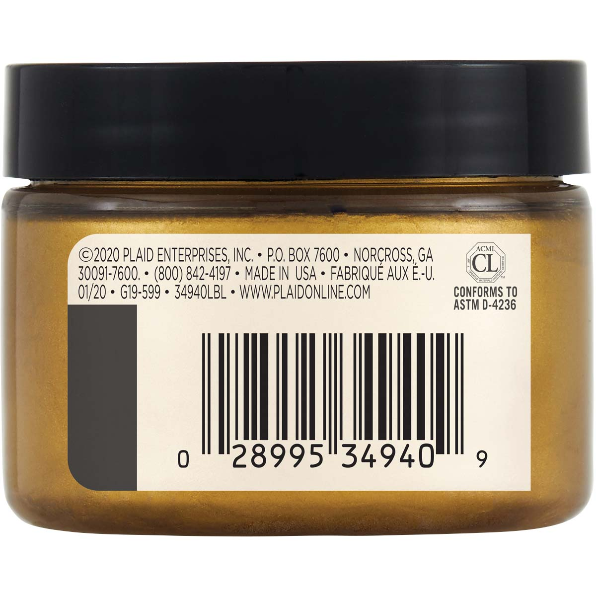 FolkArt ® Design Creme™ - Gold, 3 oz. - 34940
