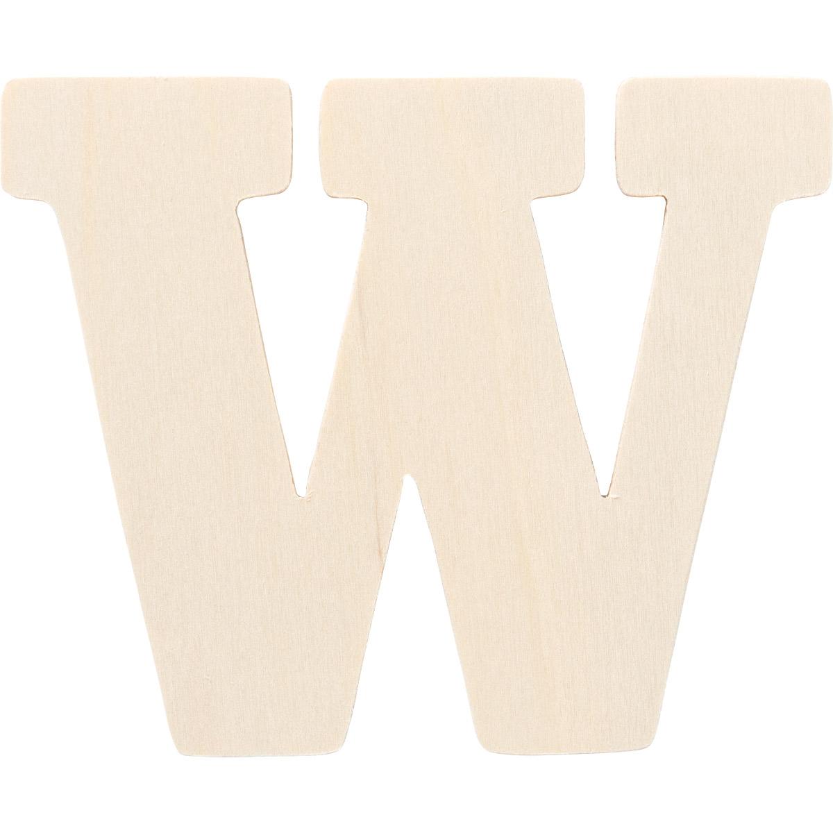 Plaid ® Painter's Palette™ Wood Letter - W. 4 inch - 23886