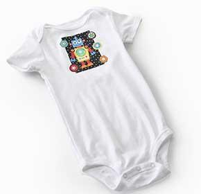 No-Sew Robot Baby Onesie