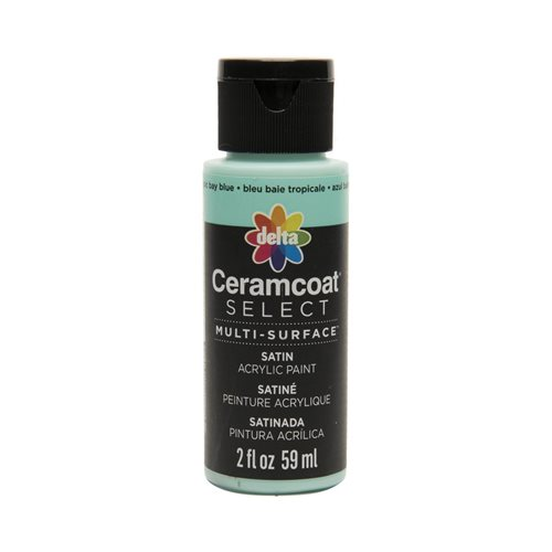 Delta Ceramcoat ® Select Multi-Surface Acrylic Paint - Satin - Tropic Bay Blue, 2 oz. - 02917