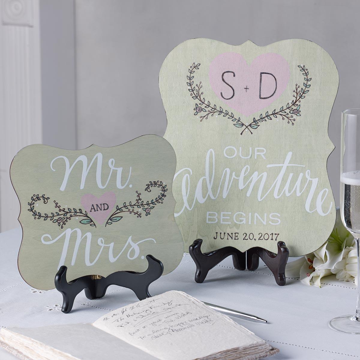 Wedding Centerpiece Signs