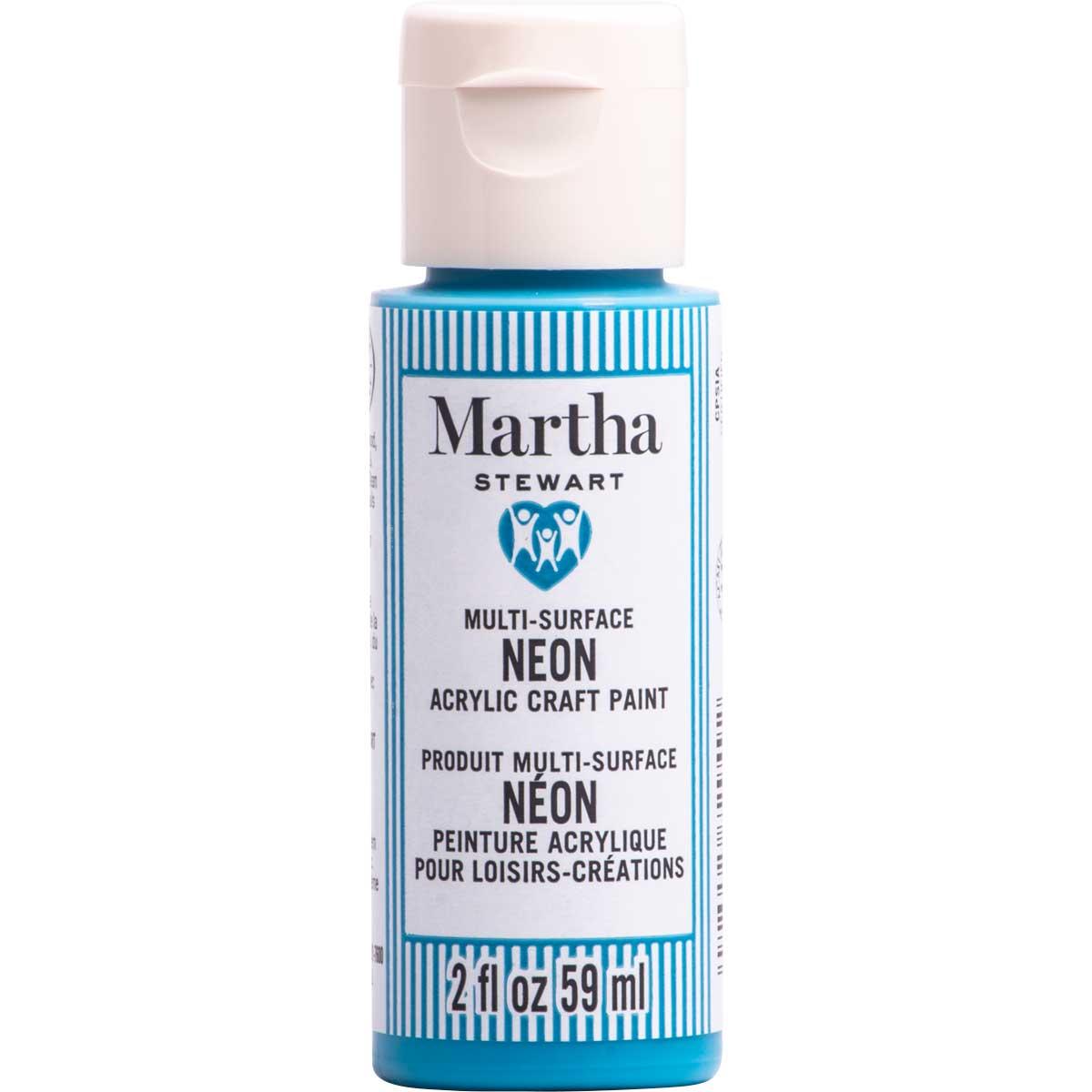 Martha Stewart® 2oz Multi-Surface Neon Acrylic Craft Paint - Blue Bird