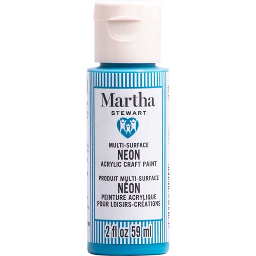 Martha Stewart ® Multi-Surface Neon Acrylic Craft Paint CPSIA - Blue Bird, 2 oz. - 72949