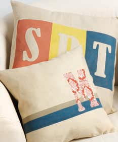 DIY Monogrammed Pillows