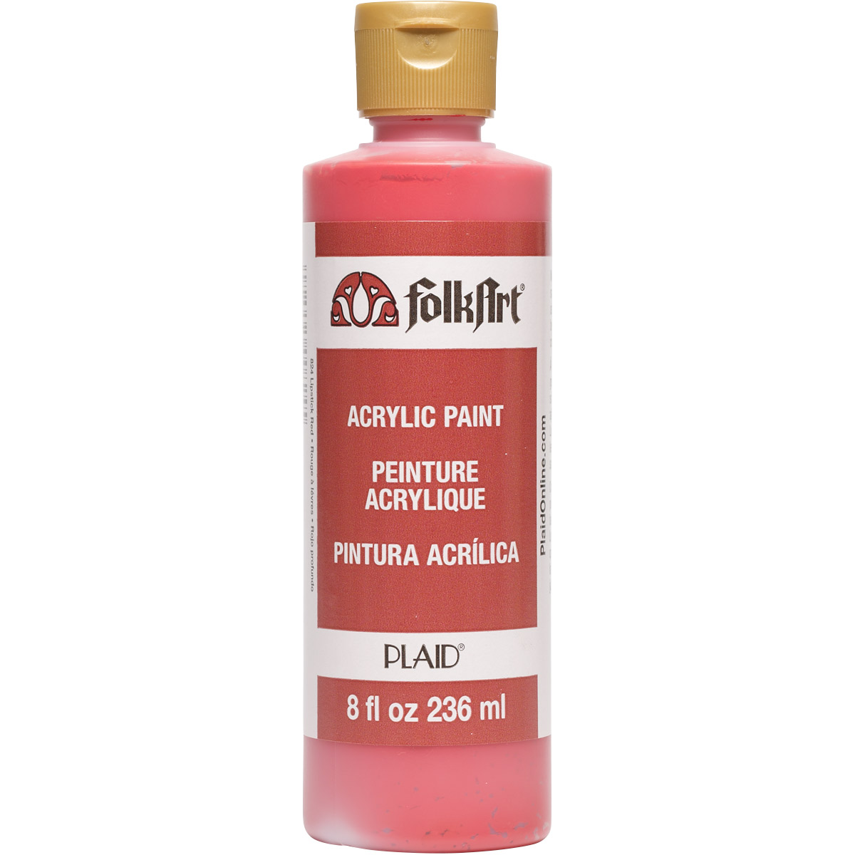 FolkArt ® Acrylic Colors - Lipstick Red, 8 oz. - 824