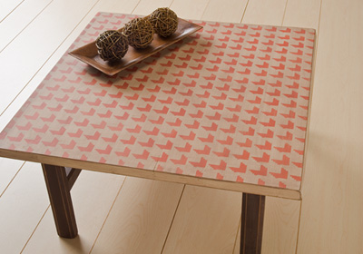 Houndstooth Patterned Table