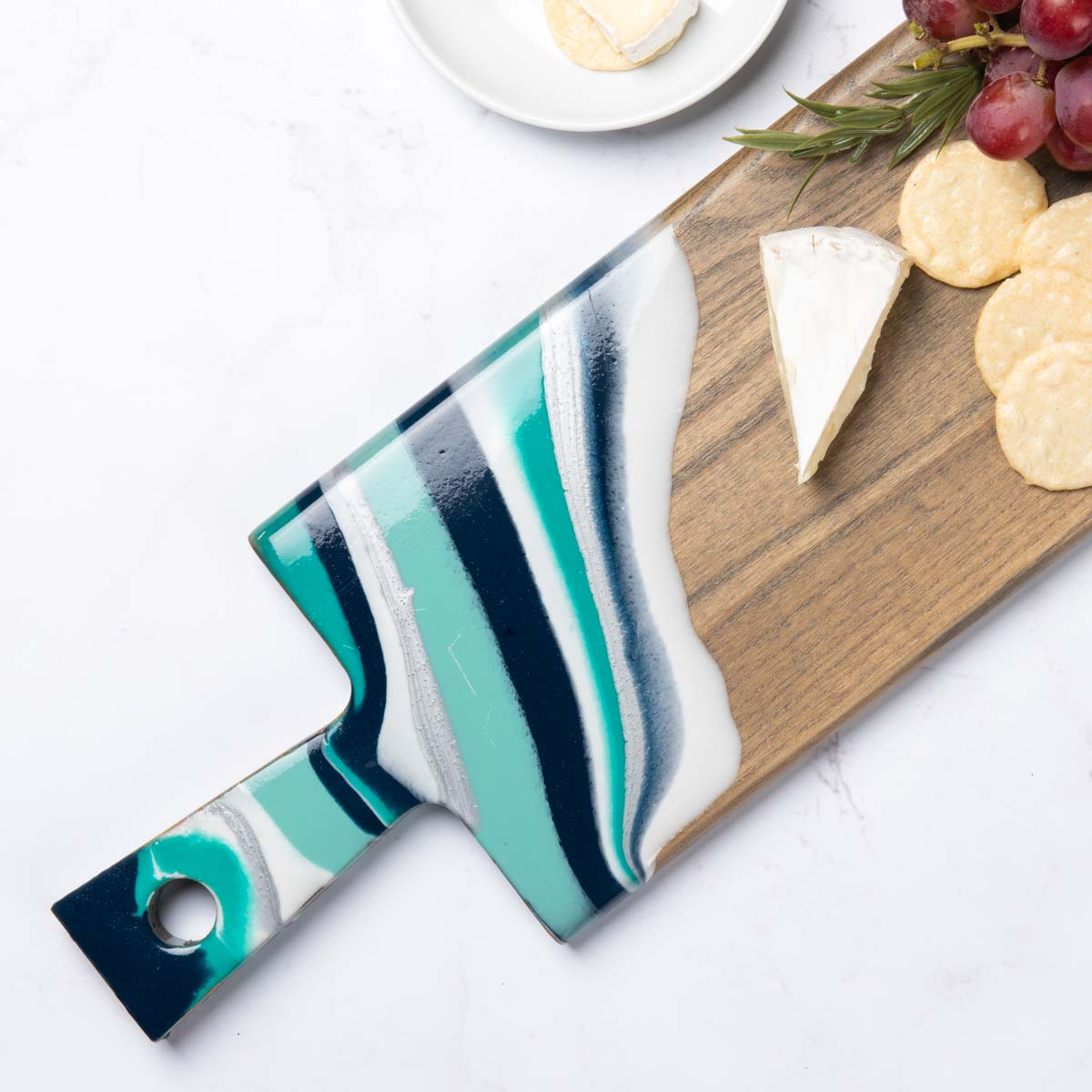 Blue and Aqua Cutting Board