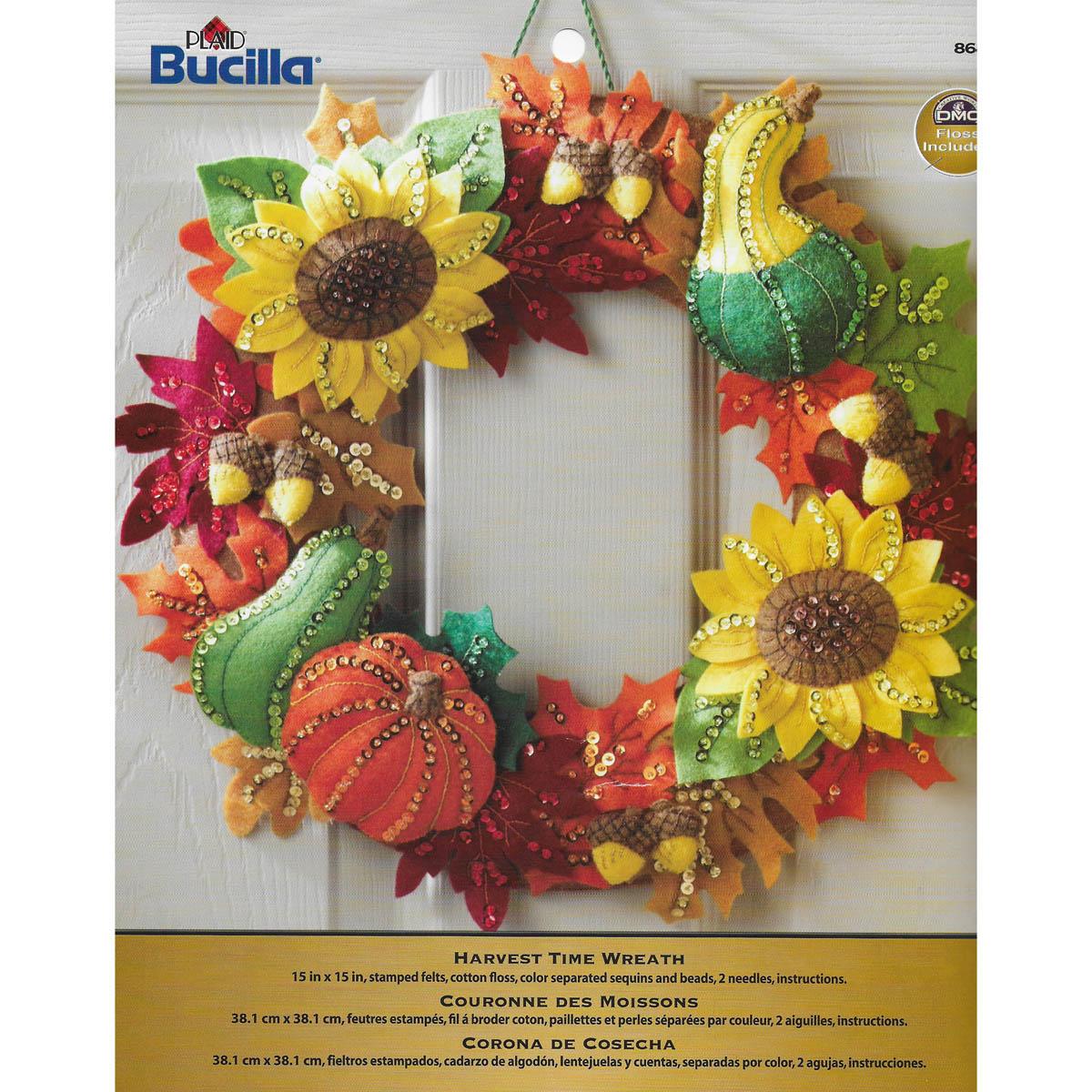 Bucilla ® Seasonal - Felt - Home Decor - Harvest Time Wreath - 86428