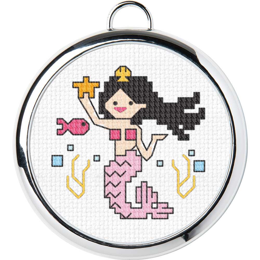 Bucilla ® My 1st Stitch™ Fantasy - Counted Cross Stitch Kits - Mini - Magical Mermaid - 49181E