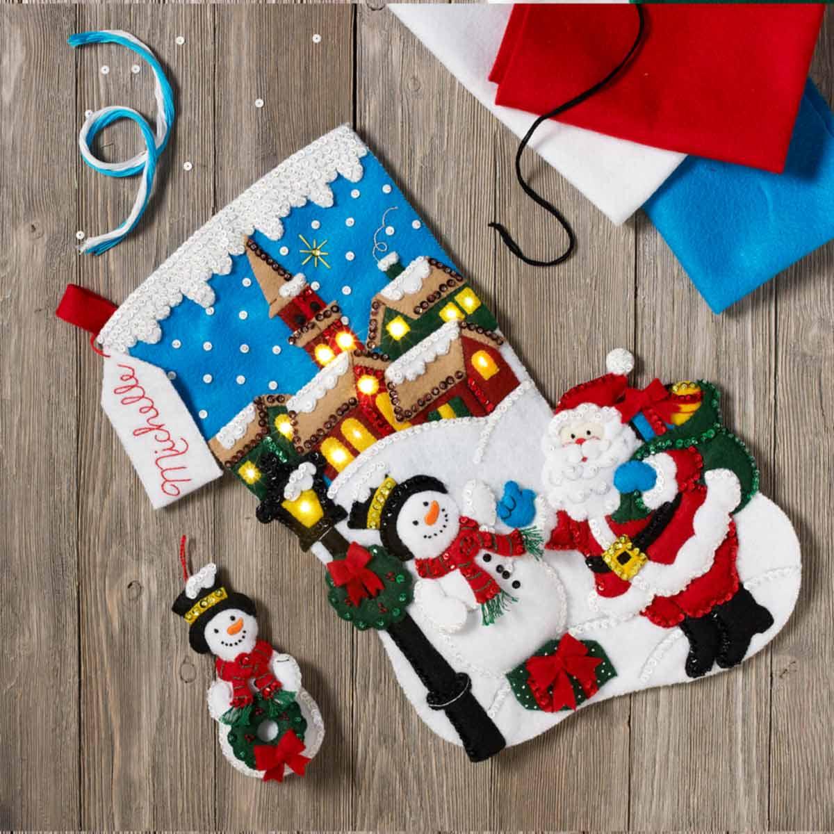 Bucilla ® Seasonal - Felt - Stocking Kits - Christmas Village