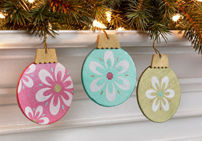 Floral Snowflake Ornaments