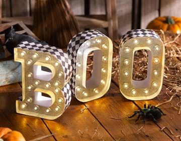 Halloween Marquee Boo Letters