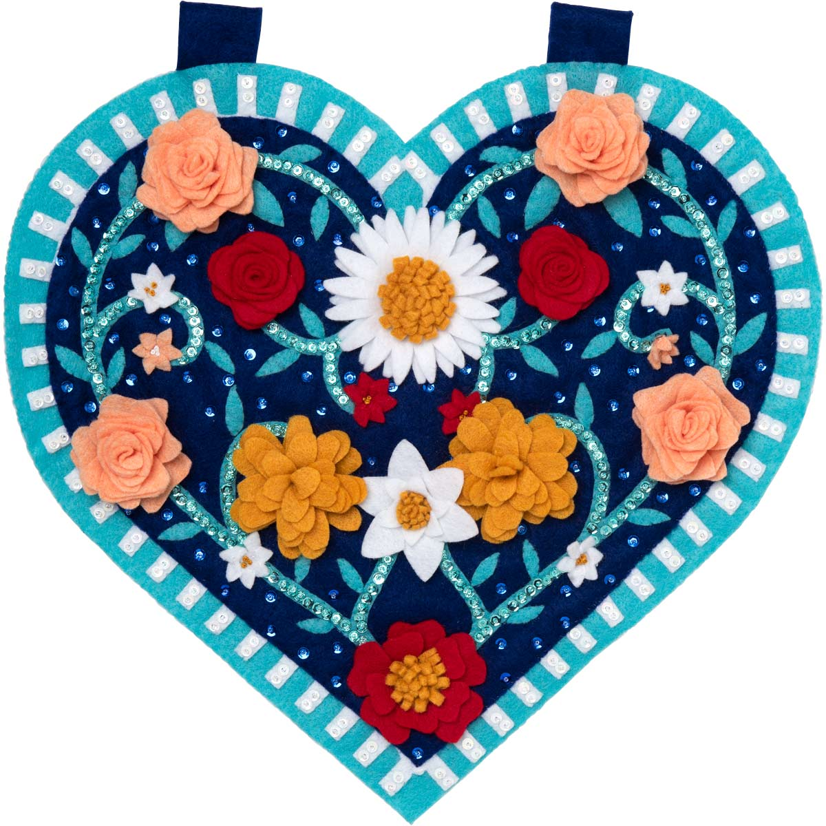 Bucilla ® Felt - Home Decor - Spring Heart Wall Hanging