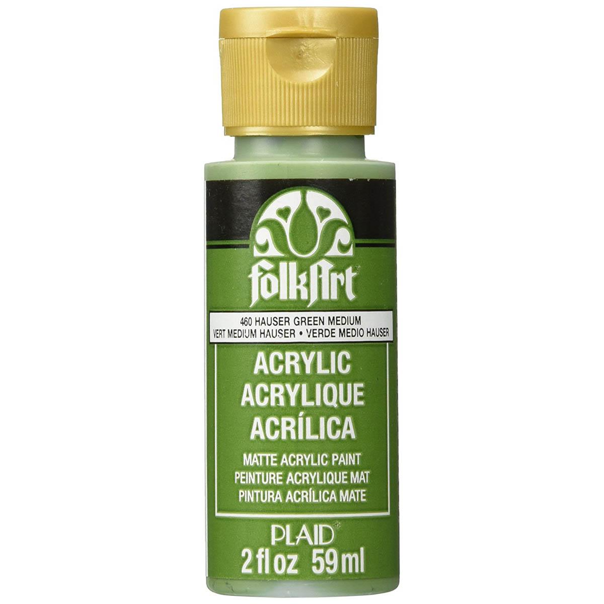 FolkArt ® Acrylic Colors - Hauser Medium Green, 2 oz. - 460