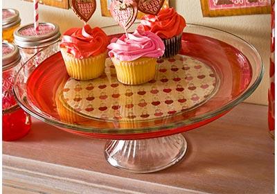 Mod Podge Sheer Color Valentine's Day Cake Plate