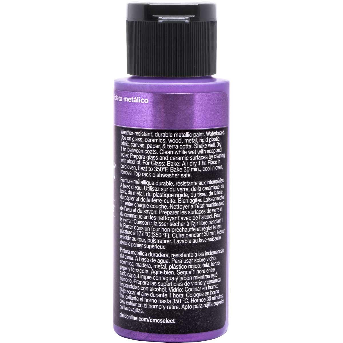 Delta Ceramcoat ® Select Multi-Surface Acrylic Paint - Metallic - Purple, 2 oz. - 04106
