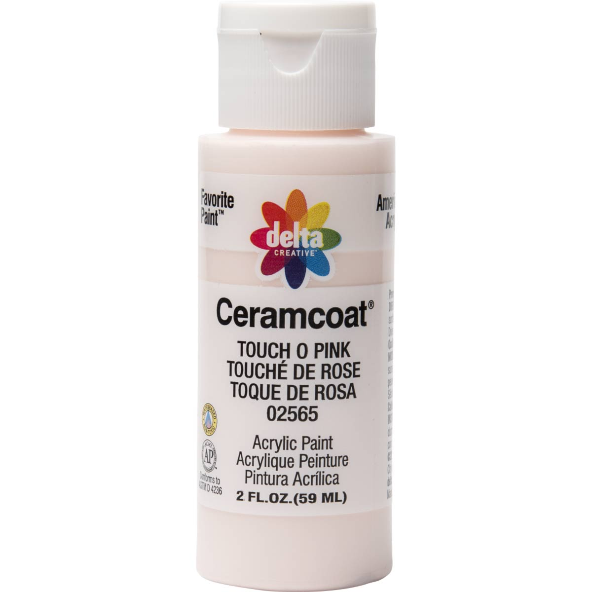 Delta Ceramcoat ® Acrylic Paint - Touch O' Pink, 2 oz. - 025650202W