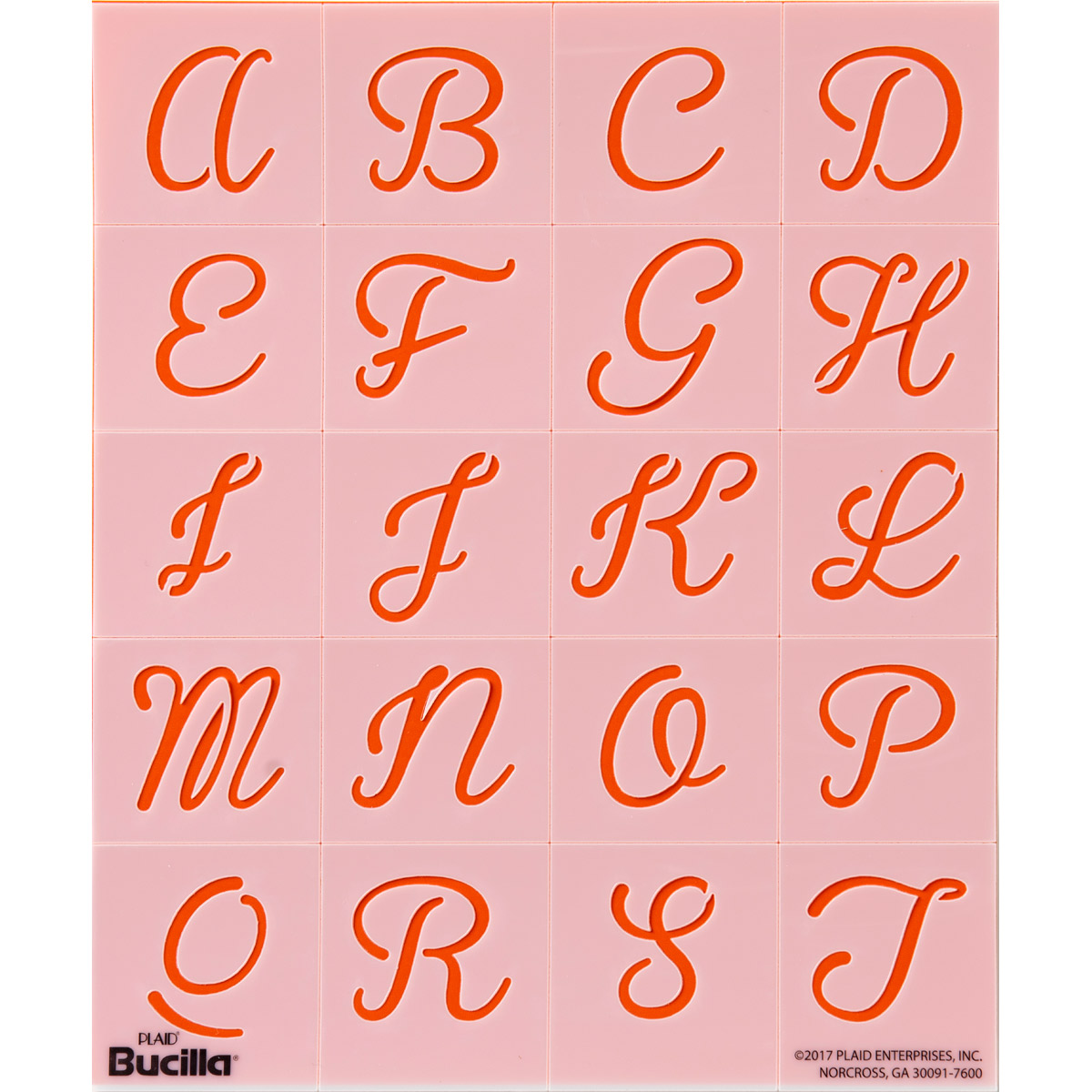 Bucilla ® Lettering and Monogramming Template Kit - Alphabet Script
