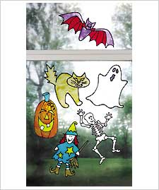 Halloween Suncatcher Clings