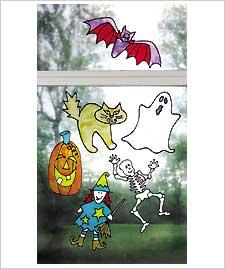 Halloween Suncatcher Clings