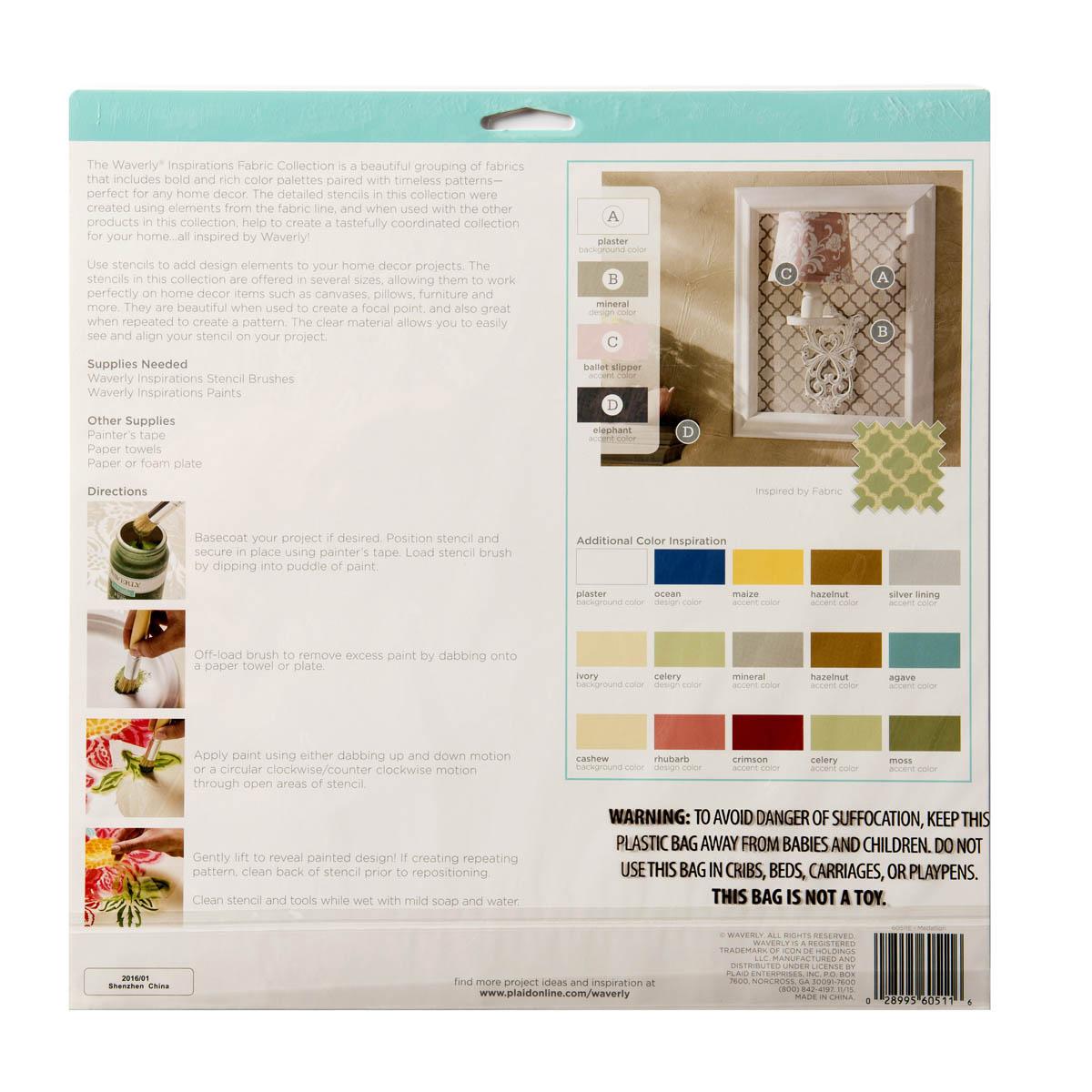 Waverly ® Inspirations Laser Stencils - Décor - Medallion, 12