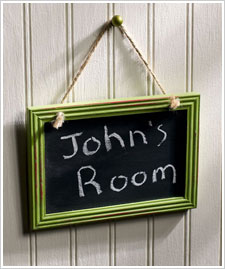 Chalkboard Room Sign