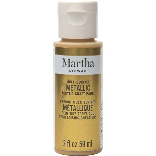 Martha Stewart ® Multi-Surface Metallic Acrylic Craft Paint - Yellow Gold, 2 oz.