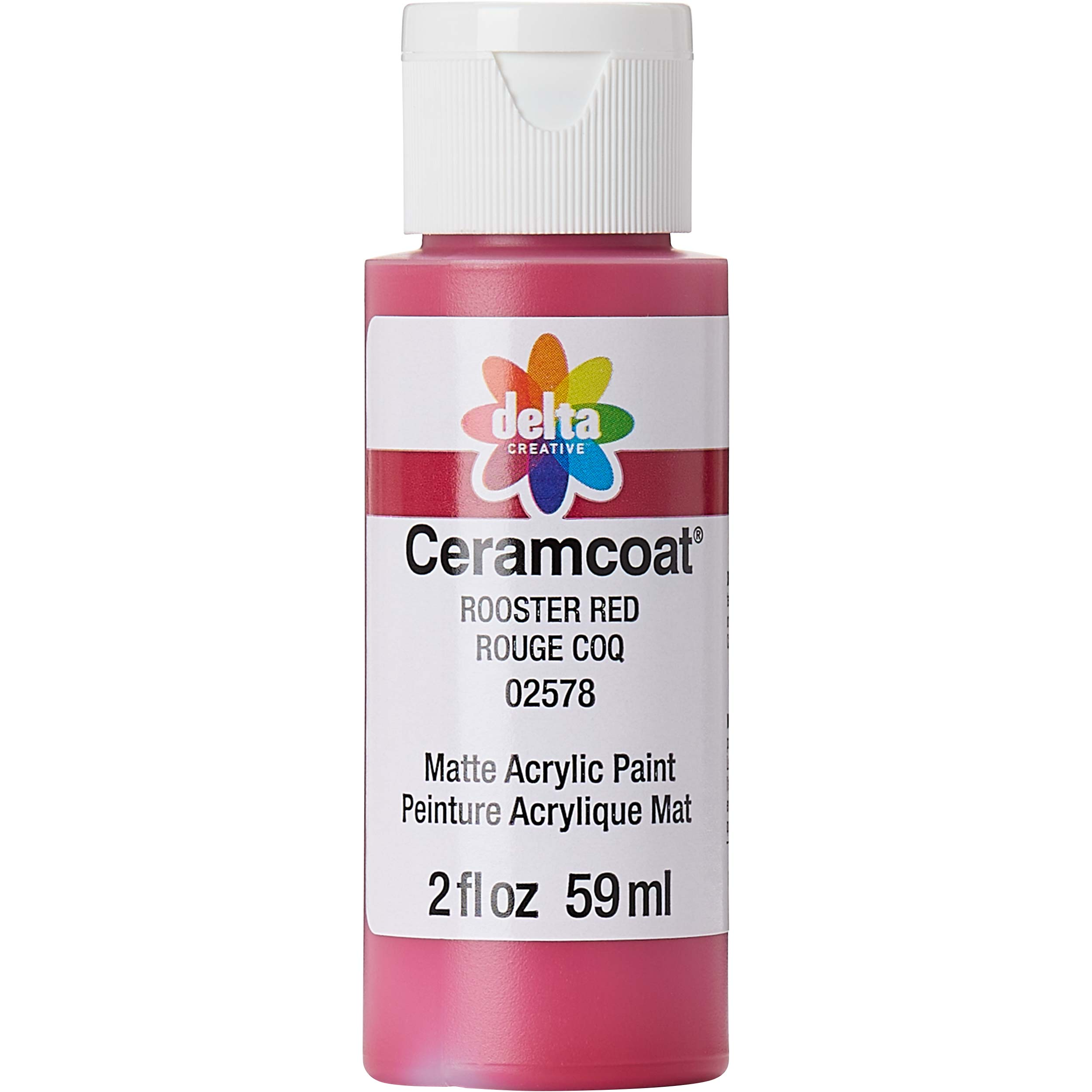 Delta Ceramcoat ® Acrylic Paint - Rooster Red, 2 oz. - 025780202W