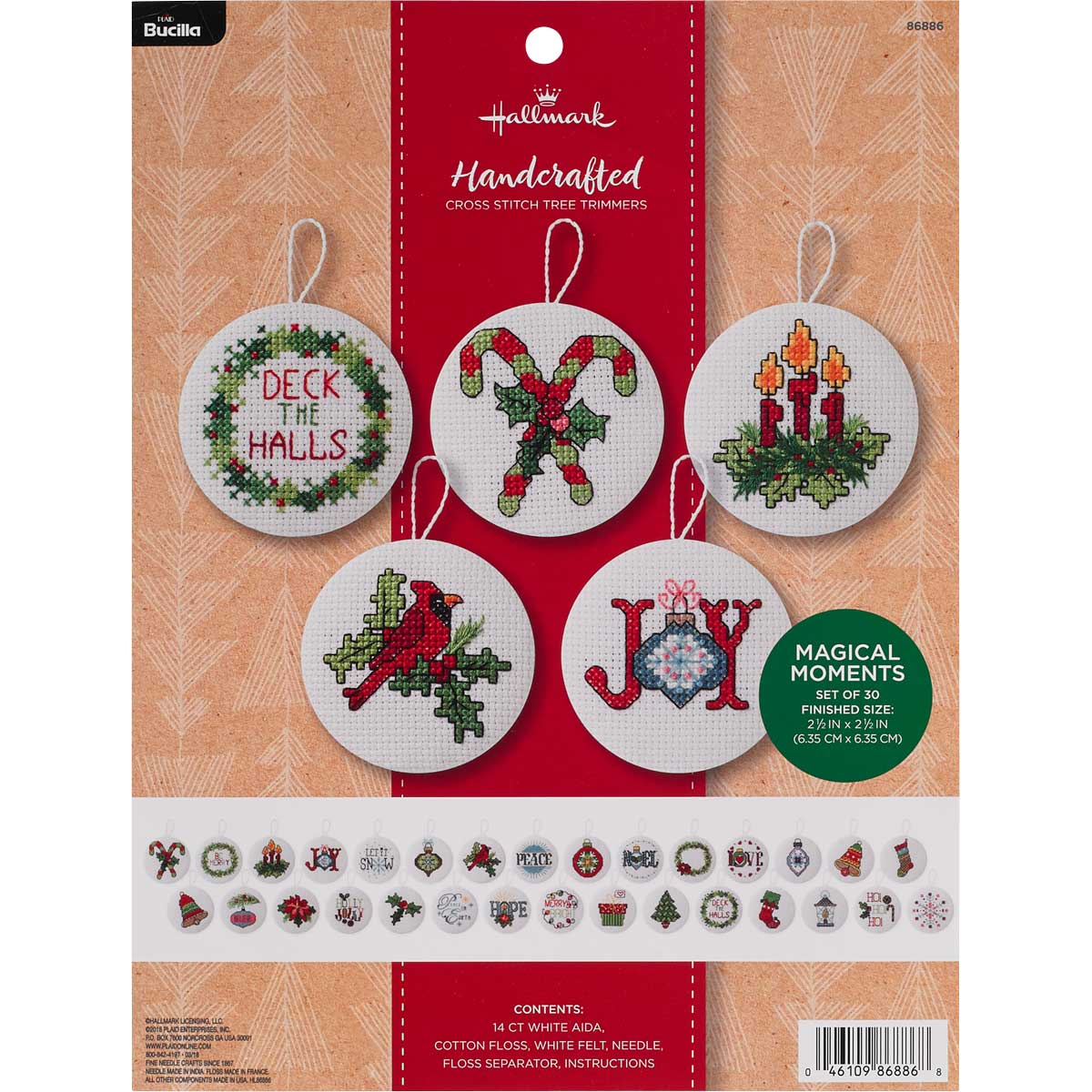 Bucilla Seasonal - Counted Cross Stitch - Tree Trimmer Kits - Hallmark - Magical Moments