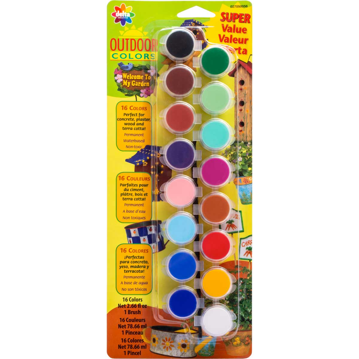 Delta Ceramcoat ® Paint Sets - Outdoor, 16 Colors - 027050056