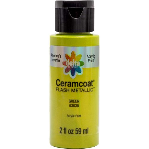 Delta Ceramcoat ® Acrylic Paint - Flash Metallic Green, 2 oz. - 03035
