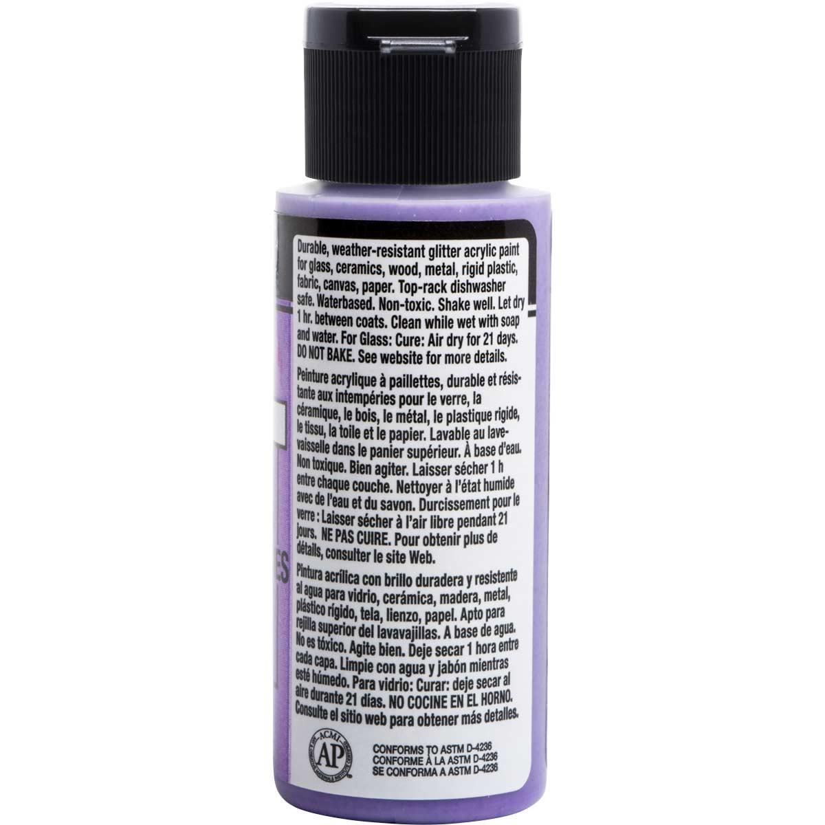 FolkArt ® Multi-Surface Glitter Acrylic Paints - Royal Purple, 2 oz. - 2962