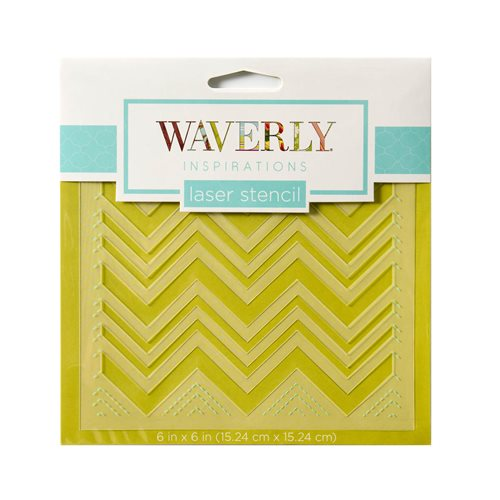 "Waverly ® Inspirations Laser Stencils - Accent - Chevron, 6"" x 6"" - 60528E"