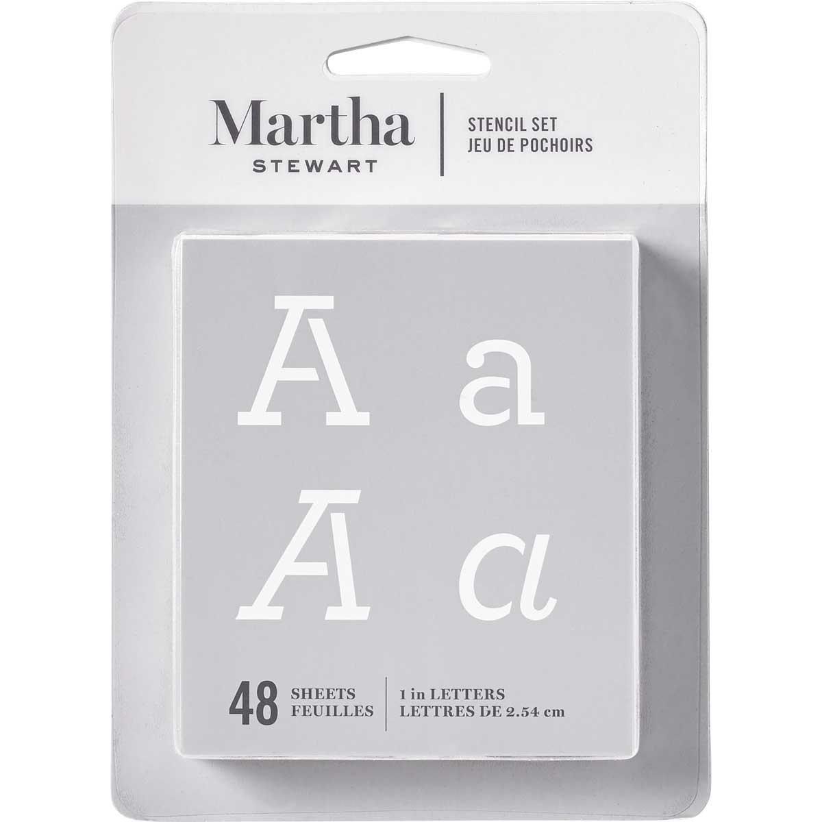 Martha Stewart ® Paper Stencil Set - Typewriter Alphabet, 48 pc. - 32272