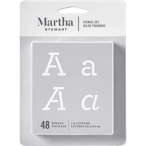 Martha Stewart ® Paper Stencil Set - Typewriter Alphabet, 48 pc. - 32272