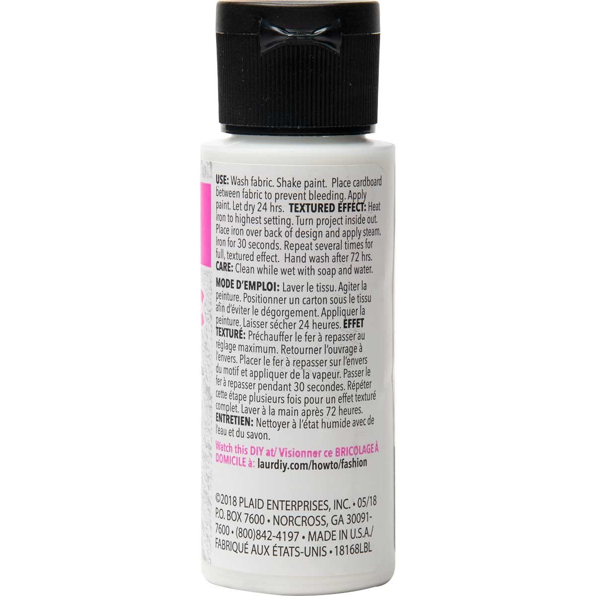 LaurDIY ® Texturific™ Fabric Paint - BearBear,2 oz.