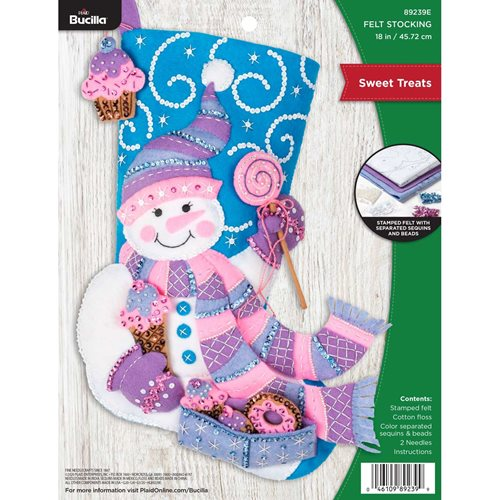 Bucilla ® Seasonal - Felt - Stocking Kits - Sweet Treats - 89239E