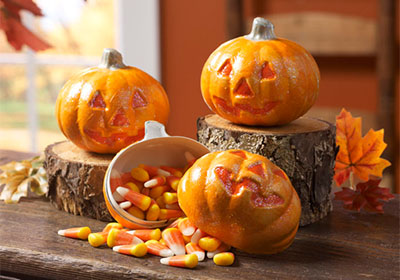 Pumpkin Treat Containers with Apple Barrel Paints