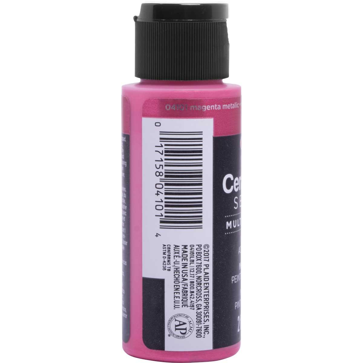 Delta Ceramcoat ® Select Multi-Surface Acrylic Paint - Metallic - Magenta, 2 oz.