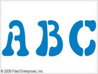 Plaid ® Stencils - Value Packs - Letter Stencils - Disco