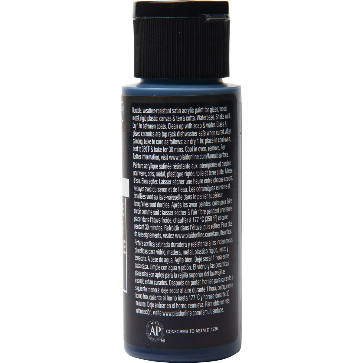 FolkArt ® Multi-Surface Satin Acrylic Paints - Prussian Blue, 2 oz. - 6360