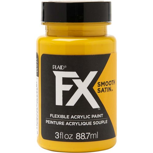 PlaidFX Smooth Satin Flexible Acrylic Paint - Amber Sand, 3 oz. - 36846