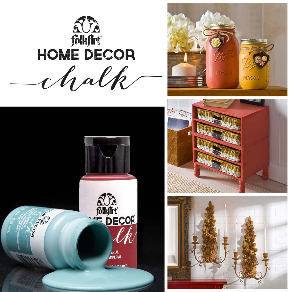 FolkArt Home Decor Chalk - Blushed Pink, 2 oz. - 36208