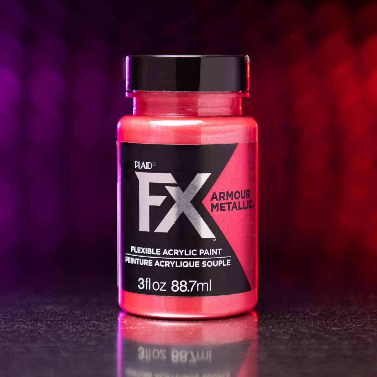 PlaidFX Armour Metal Flexible Acrylic Paint Set, 5 pc. - FXMETAL5PC