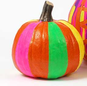 Glow in the Dark Striped Pumpkin