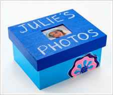 Blue Photo Box