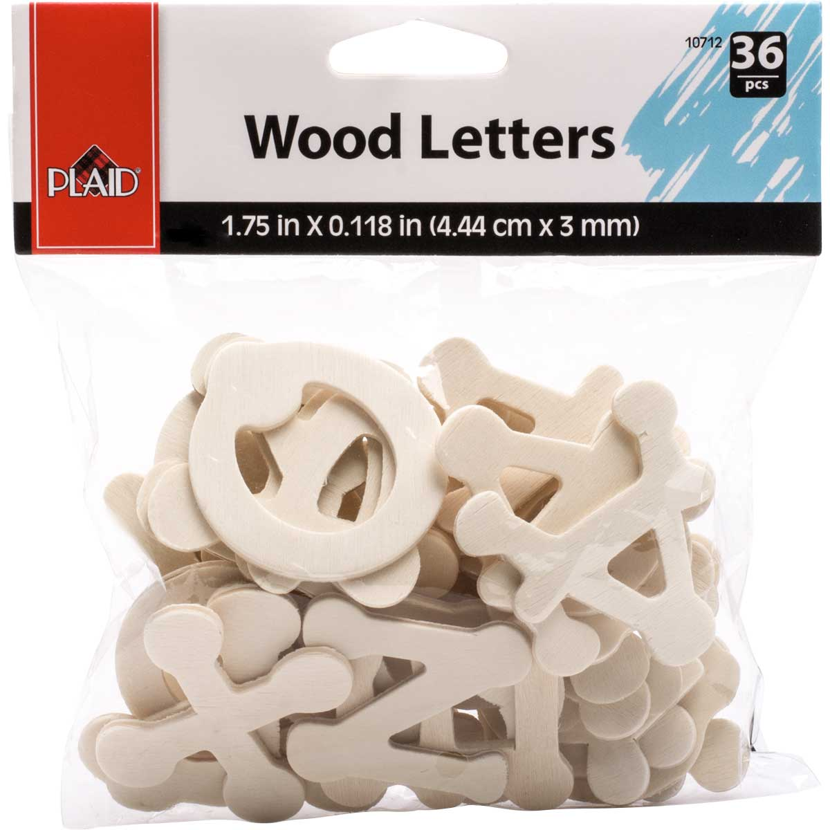 Plaid ® Wood Surfaces - Letter Packs - Dot to Dot - 10712E