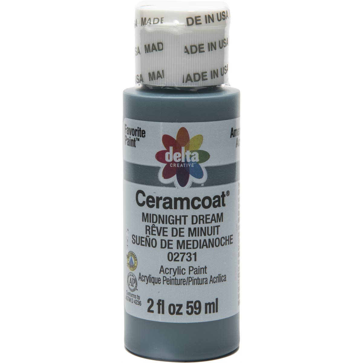 Delta Ceramcoat ® Acrylic Paint - Midnight Dream, 2 oz. - 02731