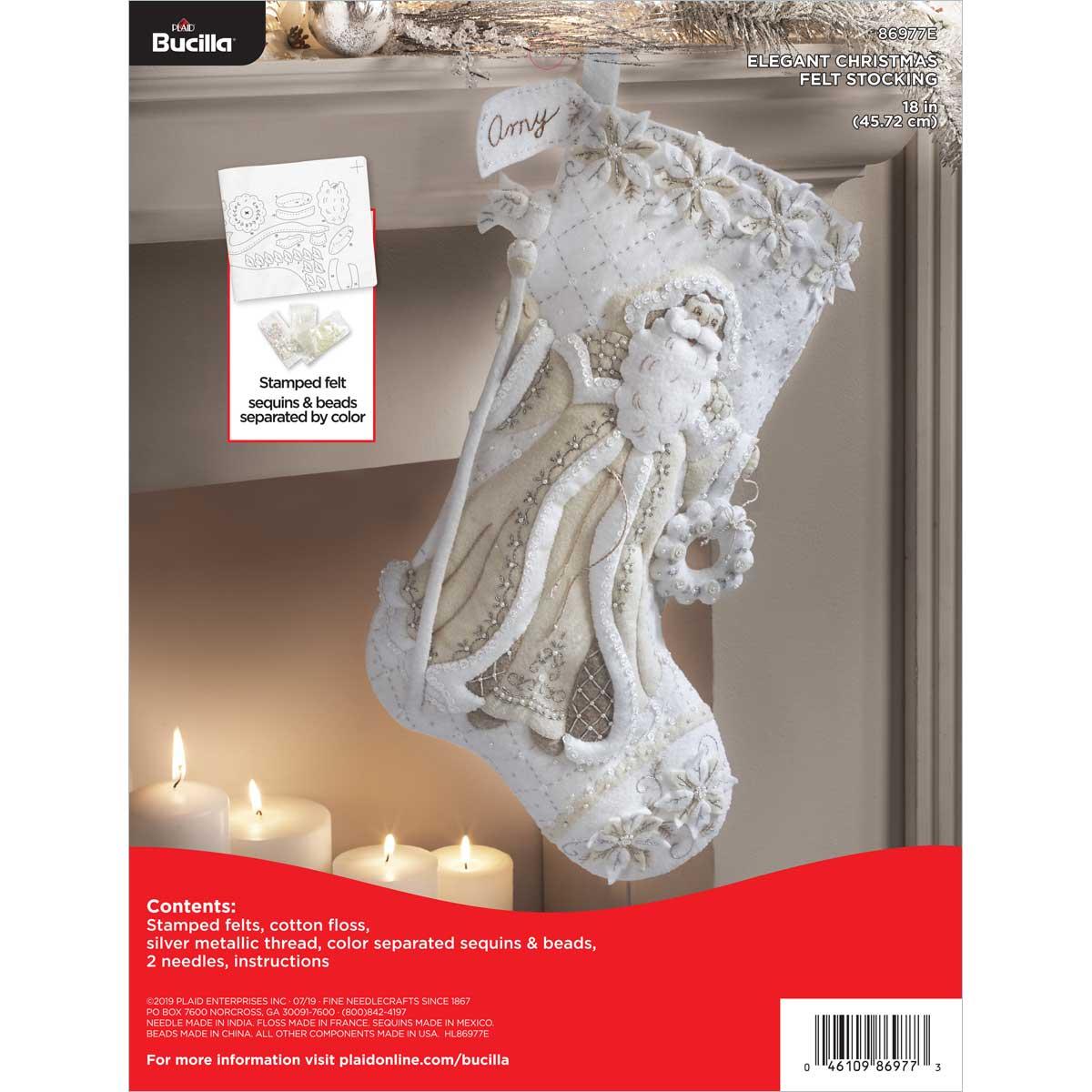 Bucilla ® Seasonal - Felt - Stocking Kits - Elegant Christmas - 86977E