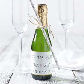 Custom Label Champagne Wedding Favors